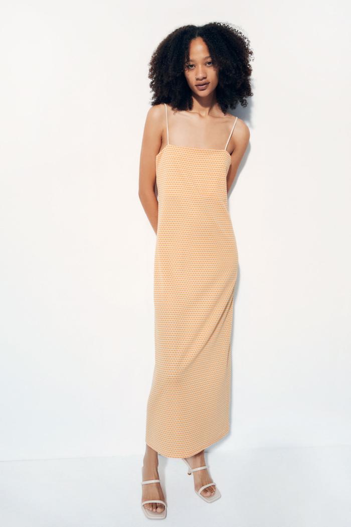 Zara Jacquard Midi Dress