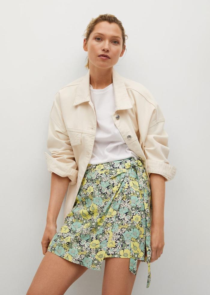 Mango Bow Wrap Skirt