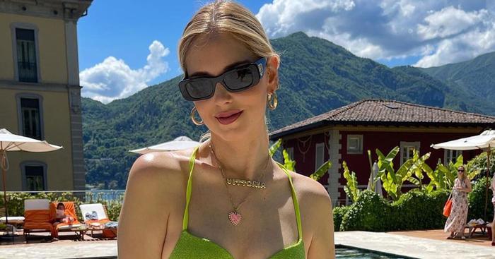 Chiara Ferragni's  Push-Up Bikini Hits on the #1 Color Trend of
