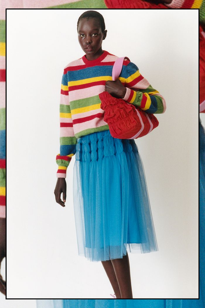 Pre Fall 2021 trends: rainbow jumpers at Molly Goddard