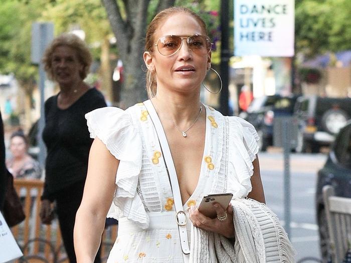 Jennifer Lopez's Pretty Dress Had This Signature J.Lo Detail