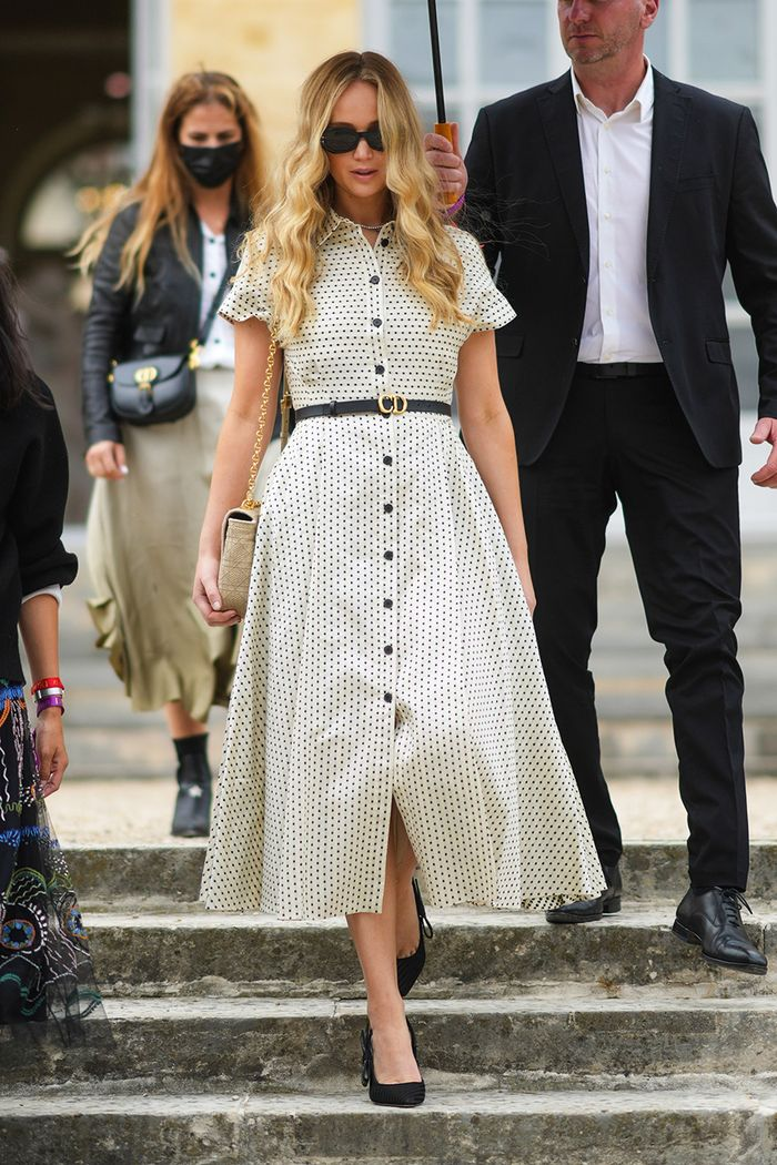 Jennifer Lawrence Dior Couture show