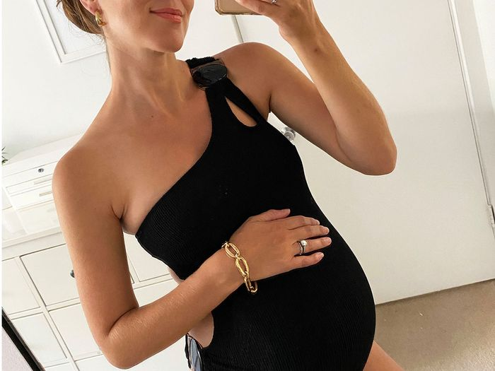 I'm 7 Months Pregnant—These Are the Chic Swimsuits Seeing Me Through Summer