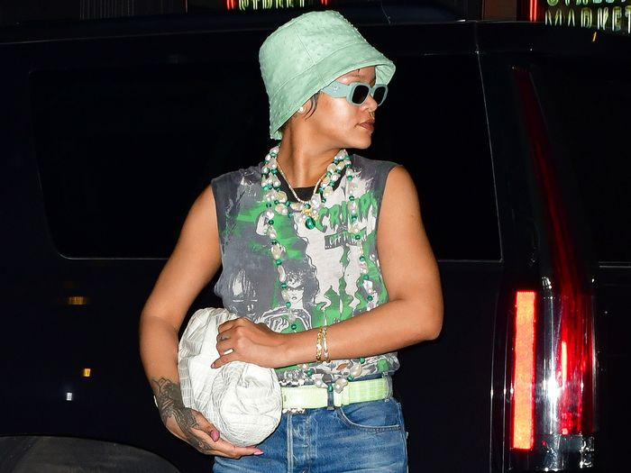 Rihanna Found the Perfect Way to Wear Slim-Fitting Jeans for a Date