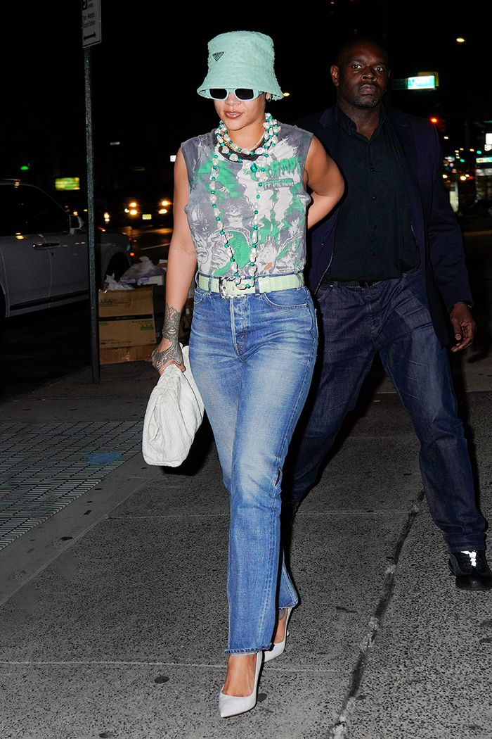 Rihanna jeans date night outfit