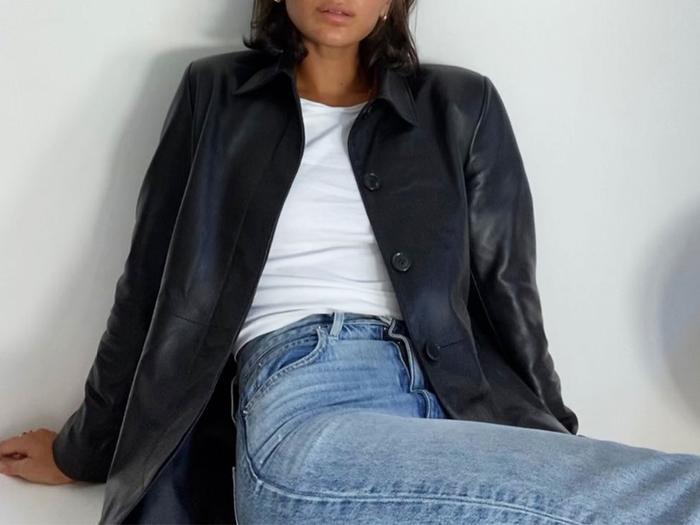 Leather Blazer @bellathomas