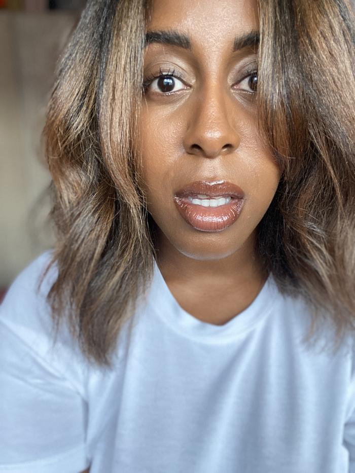 Keeks Reid bleacher her Afro hair