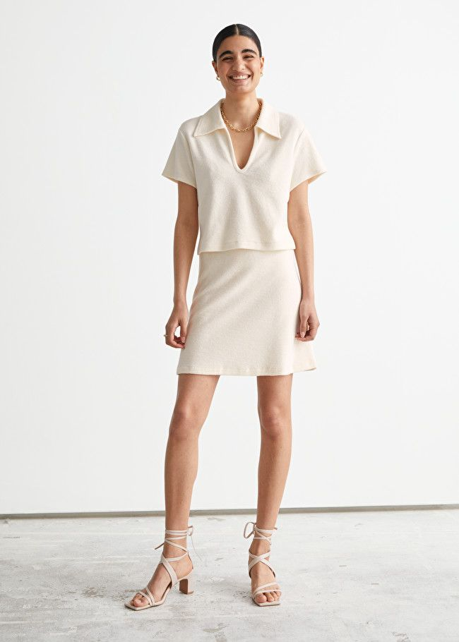 & Other Stories Terry Mini Skirt