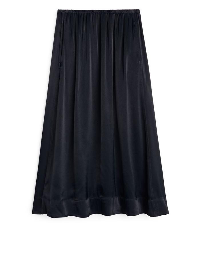 Arket Washed Satin Skirt