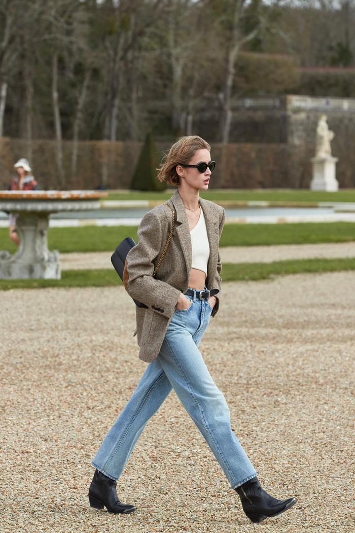 Autumn Denim Trends 2021: Classic straight-leg jeans at Celine