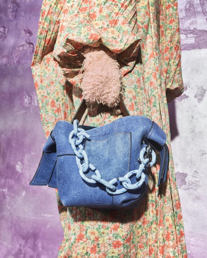 Autumn Denim Trends 2021: Denim handbags at Acne Studios
