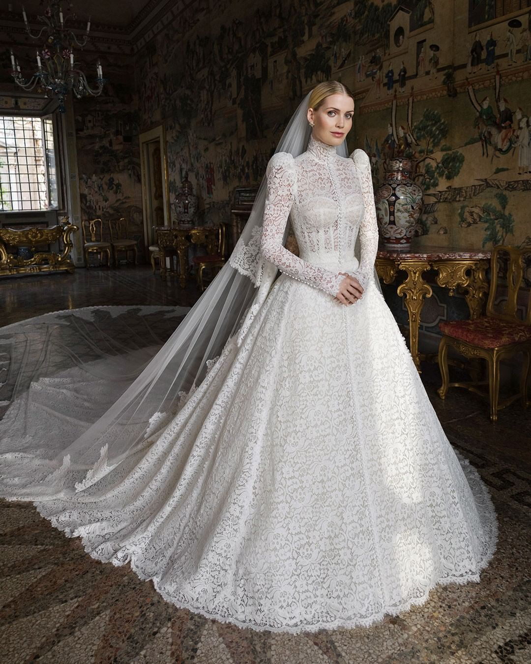 Princess Diana's Niece Just Got Married in a Victorian-Inspired Wedding Dress