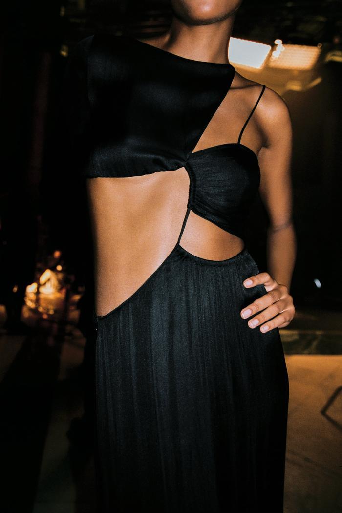 Zara Cut Out Midi Dress