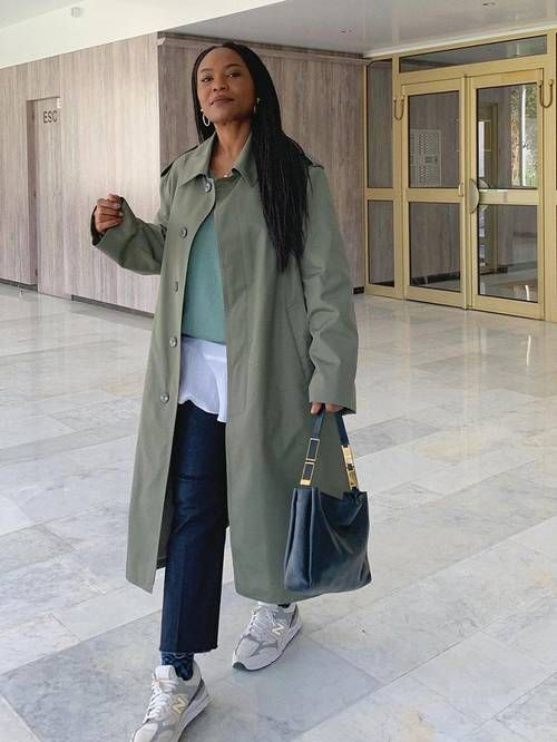 What to Wear in 15-Degree Weather: @frannfyne wears a trench coat with jeans