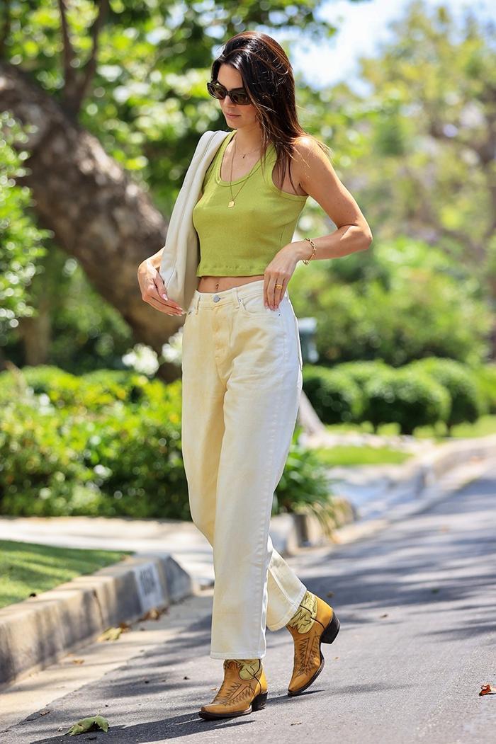 Kendall Jenner cowboy boots