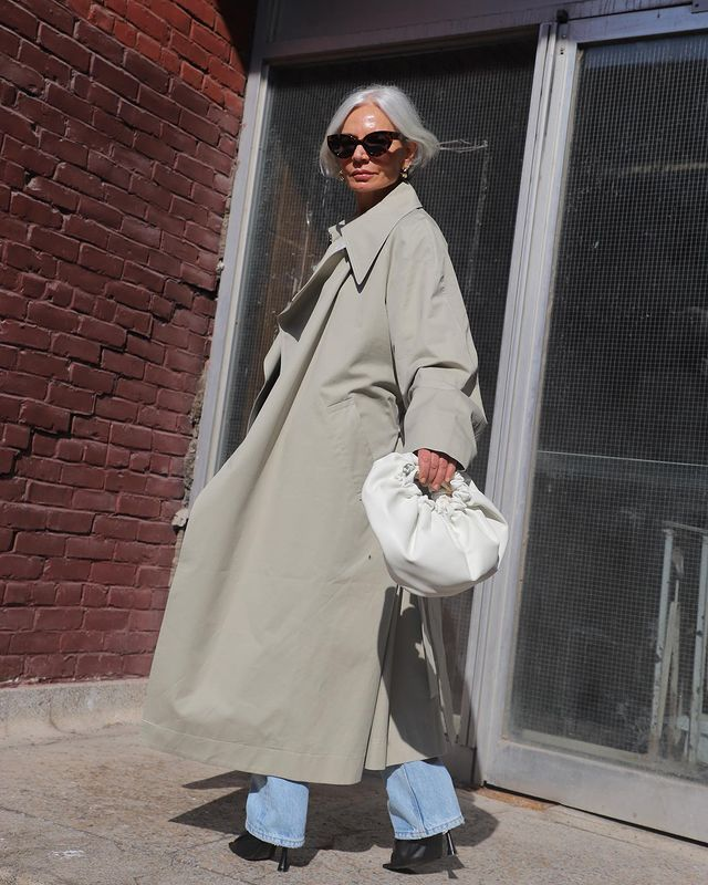 Classic Autumn Fashion Items: @greceghanem wears a trench coat