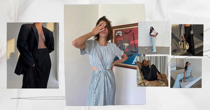 Who What Wear Collection: plissé fashion trend