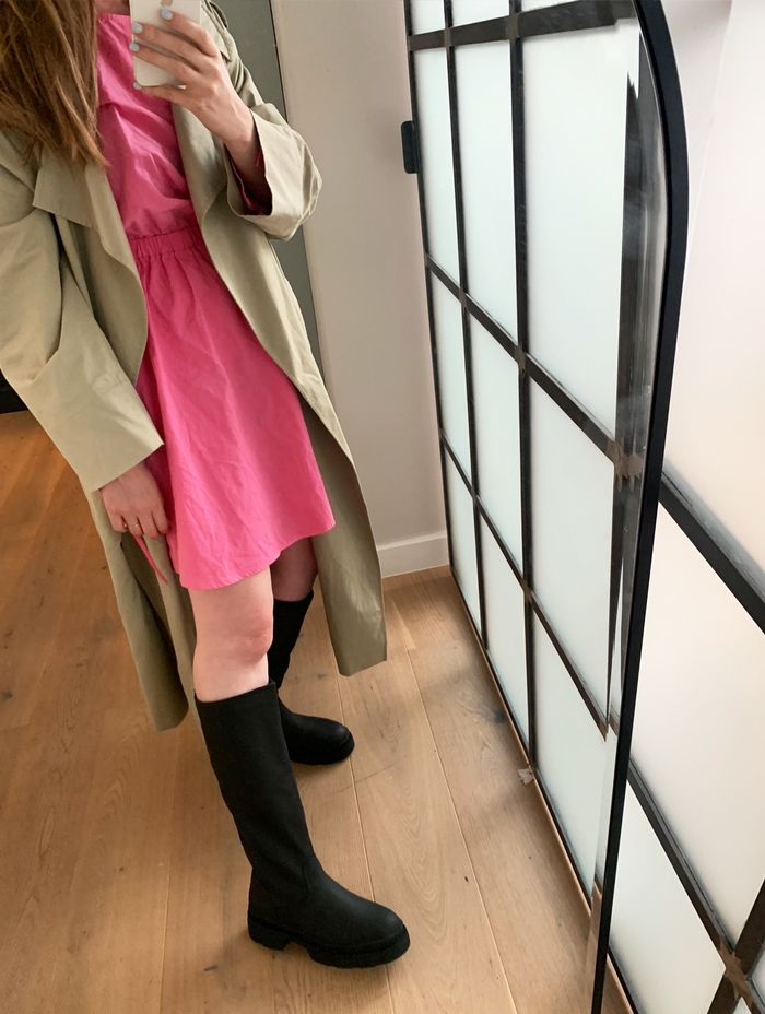 Chunky M&S knee high boots: