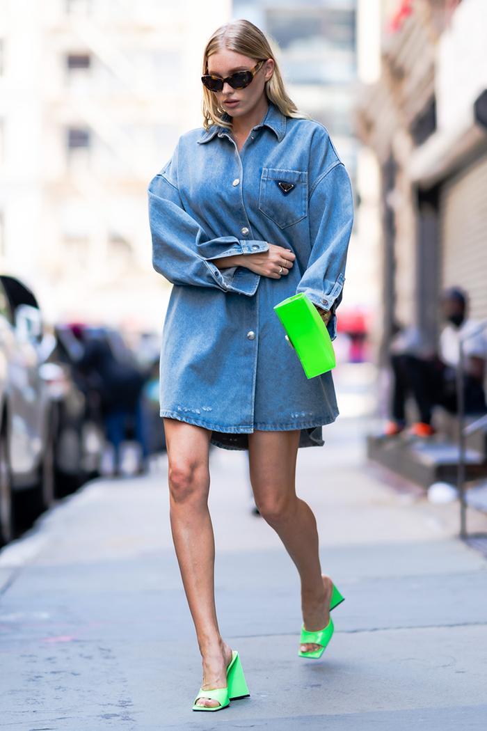 Elsa Hosk shirt as a dress trend