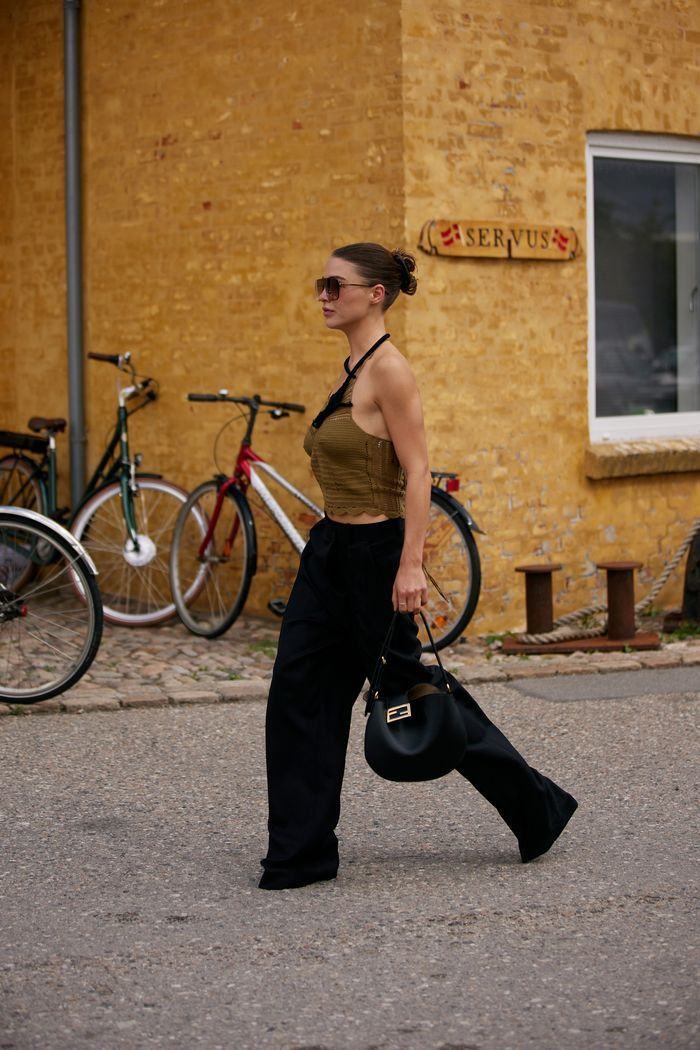 wide-leg pant outfits