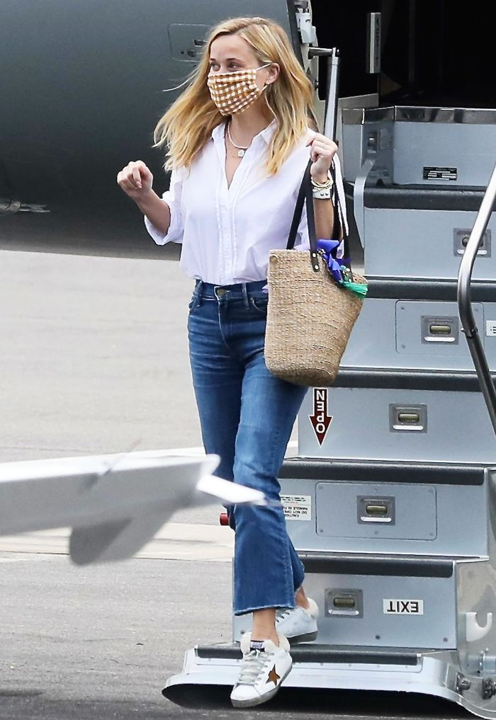 Reese Witherspoon wore Golden Goose sneakers, which went viral on TikTok
