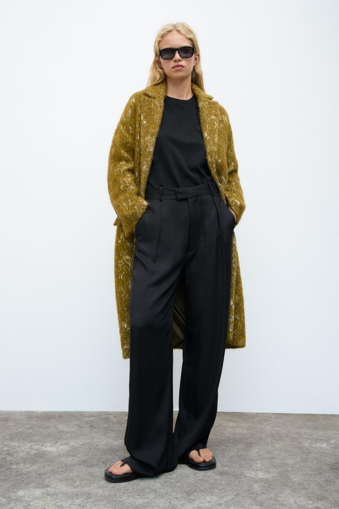 Zara Jacquard Coat Limited Edition