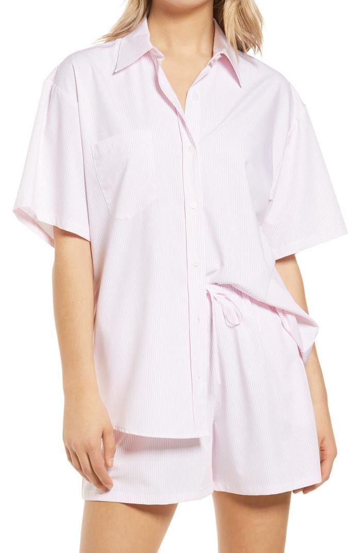 WAYF Plana Button Front Shirt
