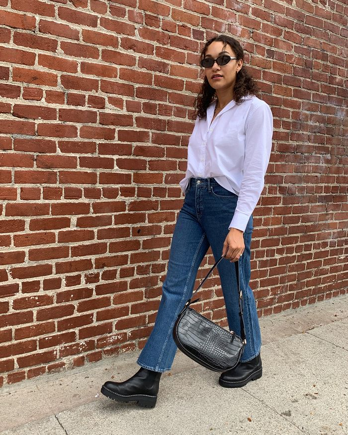 denim and boots outfits
