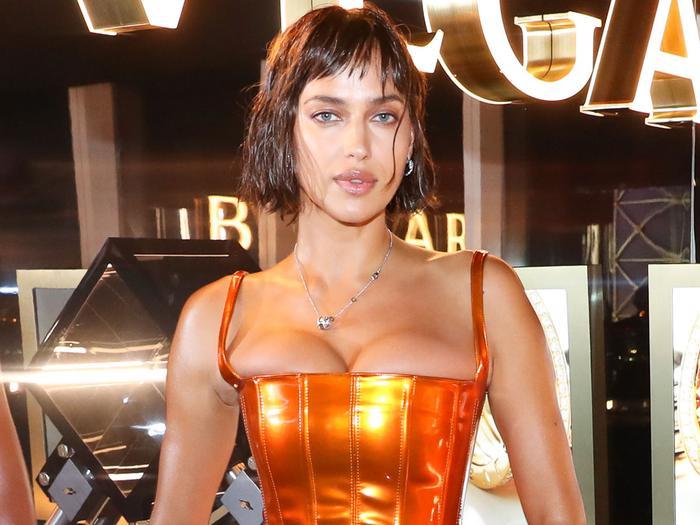 Irina Shayk's Pelvic-Cutout Corset Just Made Cargo Pants Look Sexy