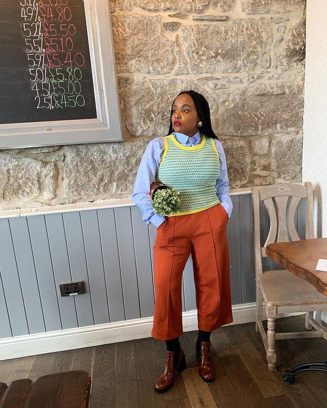 Knitted Vest Trend: @ada_oguntodu