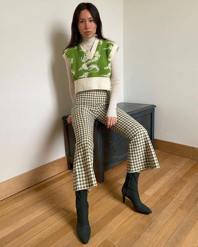 Knitted Vest Trend: @vikilefevre
