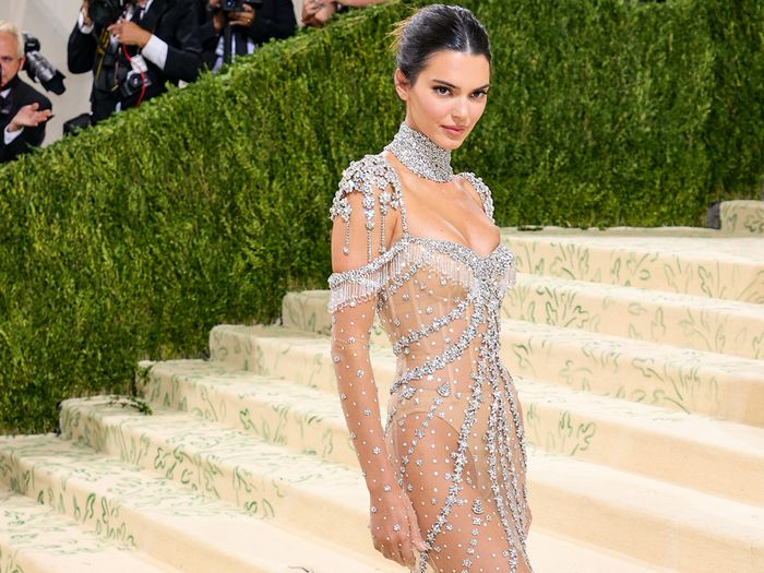 Kendall Jenner Just Wore a Naked G-String Dress to the Met Gala