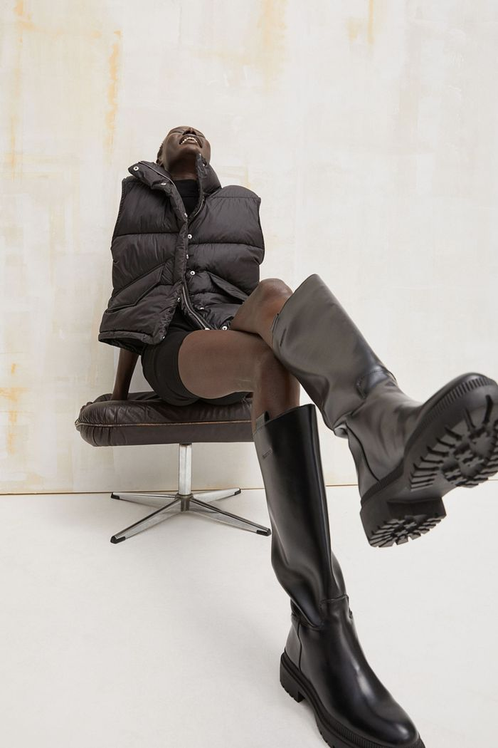 H&M chunky knee high boots