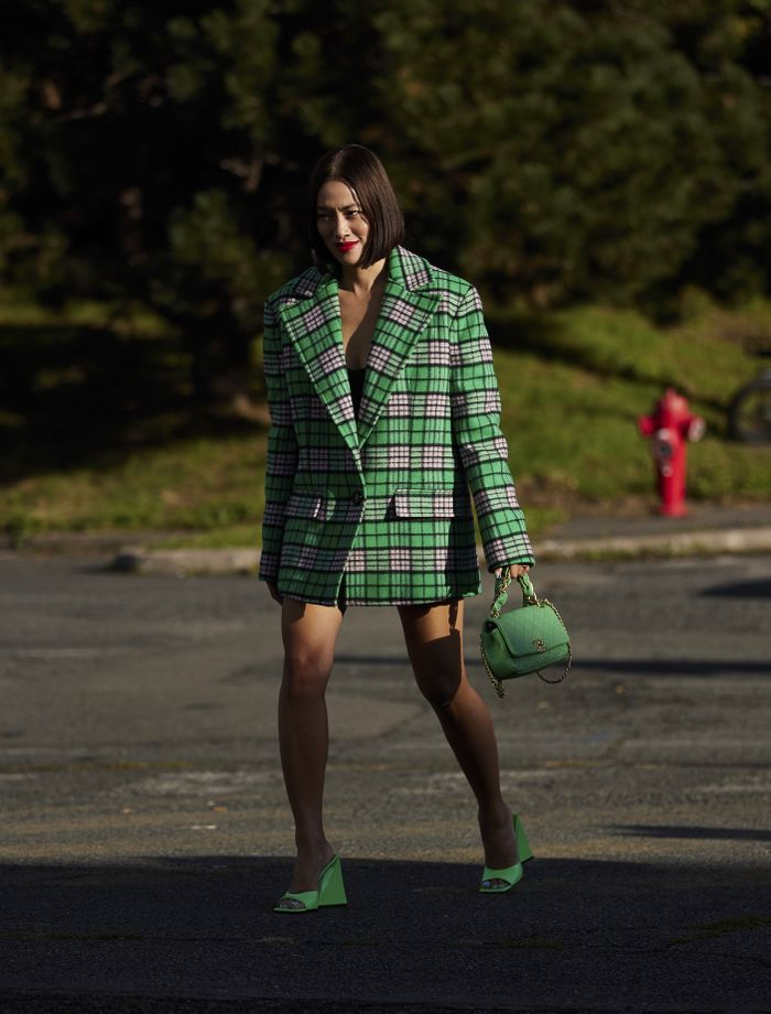 Street Style Cult Buys 2021: The Attico checked jacket