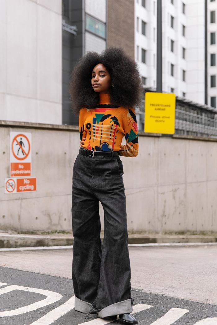 London Fashion Week street style September 2021