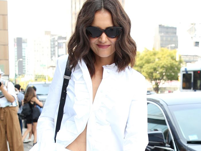 Katie Holmes and Alexa Chung Are Styling Their Jeans in the Exact Same Way