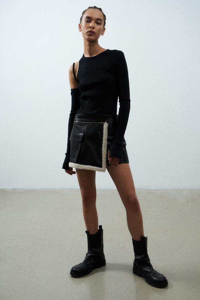 Mini skirt runway outfits