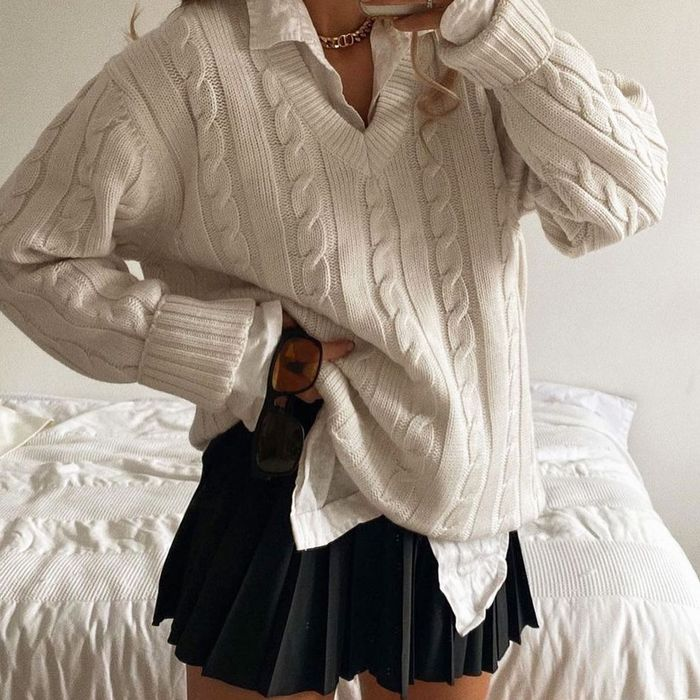 Cable-Knit Sweater @laurencrowe88