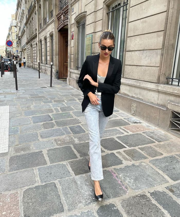 how french women style jeans: