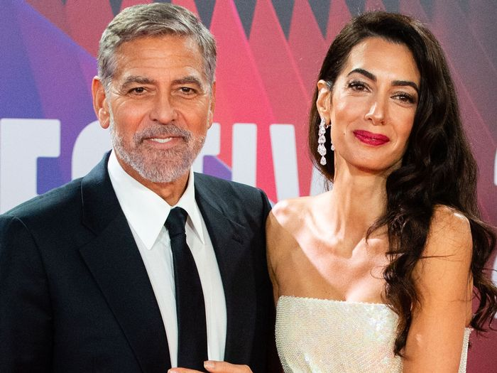 amal clooney white dress on the red carpet