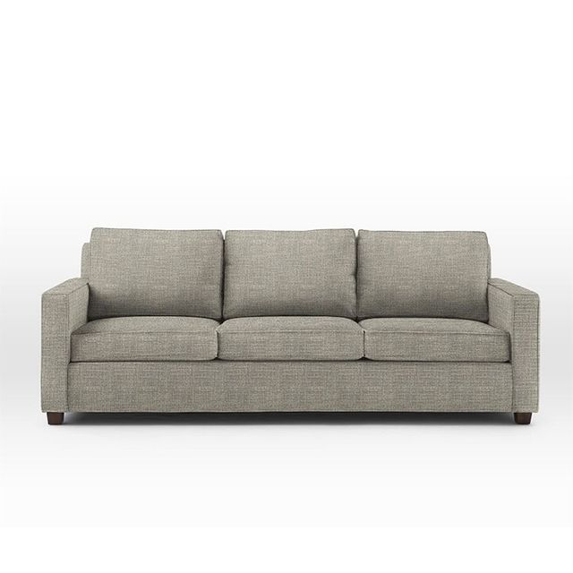 West Elm Henry Sofa, 96 Sofa, Heathered Tweed, Cement