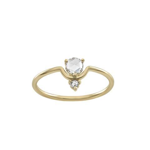 Nestled Rose Cut Diamond Ring