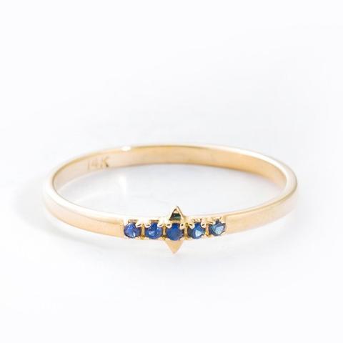 Solar Fire Sapphire Ring