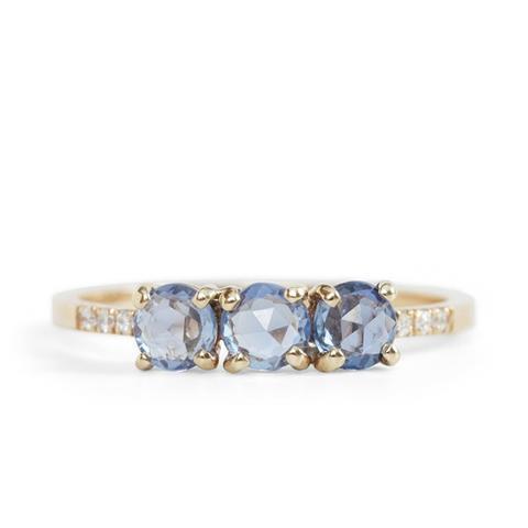 Painter's Blue Sapphire Ring