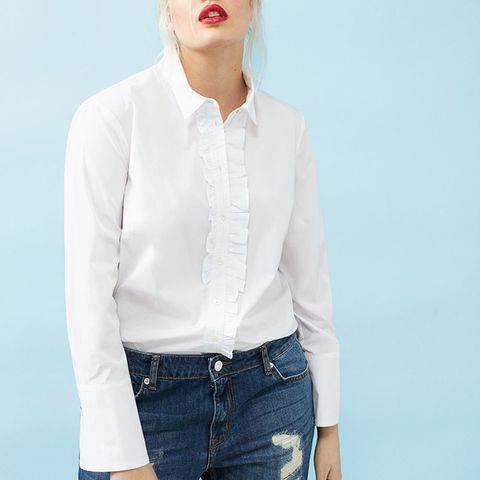 Ruffled Poplin Shirt