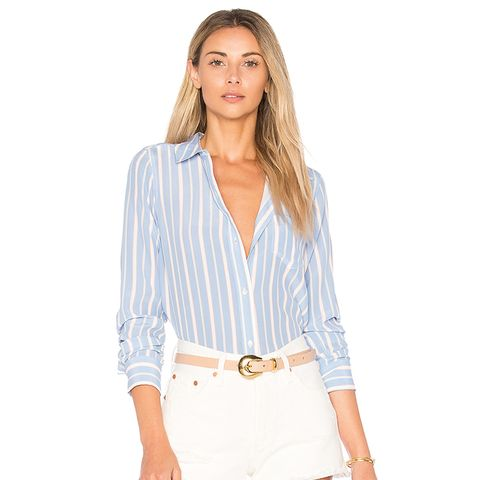 Kate Button Down in Blue