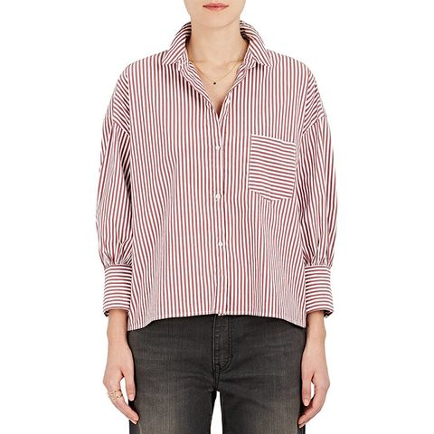 Filmore Striped Cotton-Blend Poplin Shirt