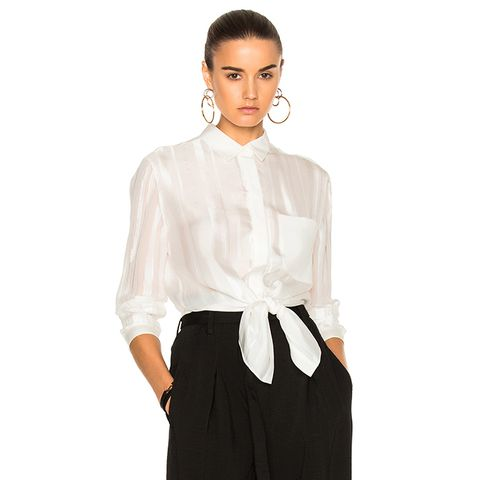 Button Down With Waist Tie