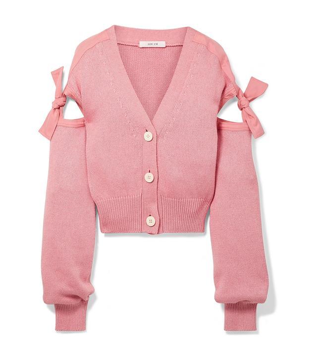 Tie-detailed Cotton-blend Cardigan