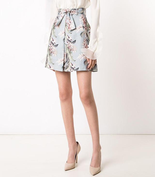 Zimmermann Floral Print A-Line Skirt